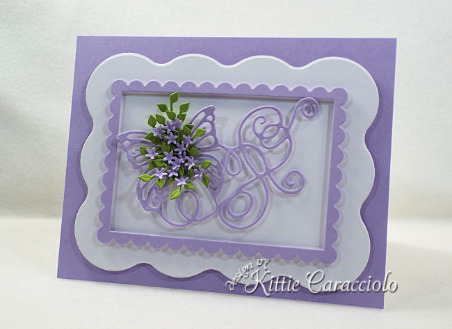 Come see how I made this die cut butterfly flourish embellished with flowers.
