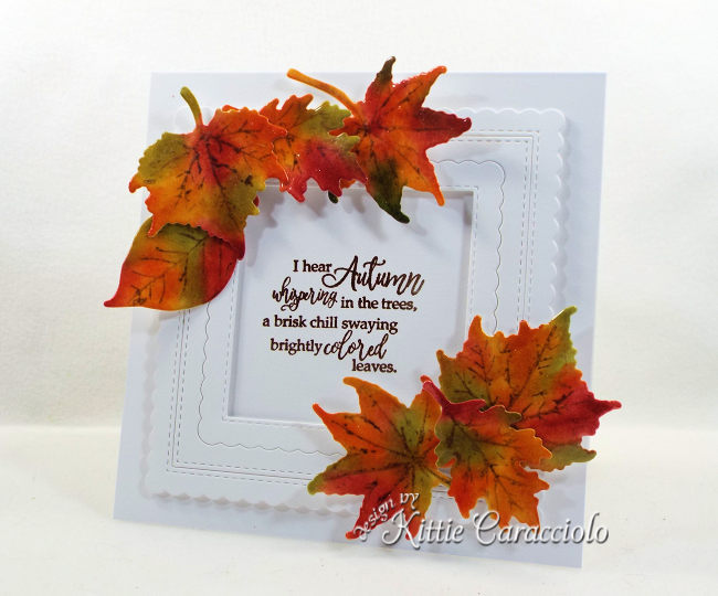 Come see how I made this framed fall leaves with die cuts project.
