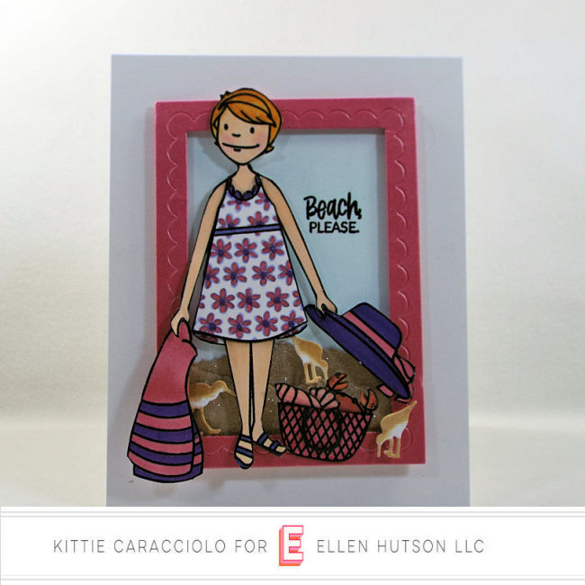 Come see how I made this fun card using the Essentials by Ellen Beach Lady.