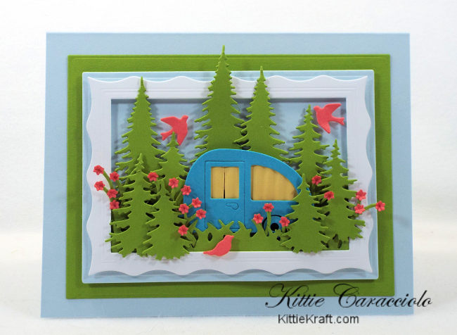 Come see how I made this fun outdoor camping scene card.