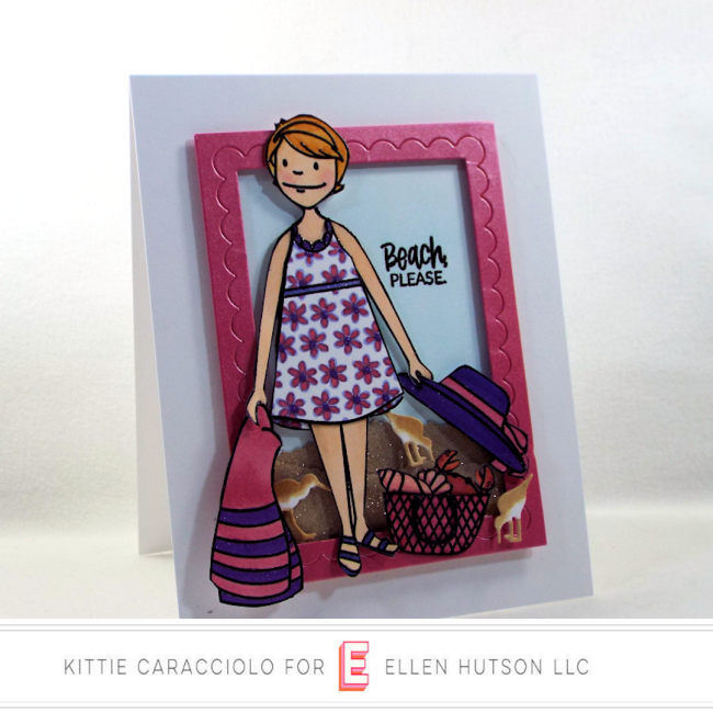 Come see how I made this fun scene card using the Essentials by Ellen Beach Lady.