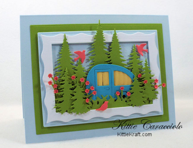 Come see how I made this outdoor camping scene card.