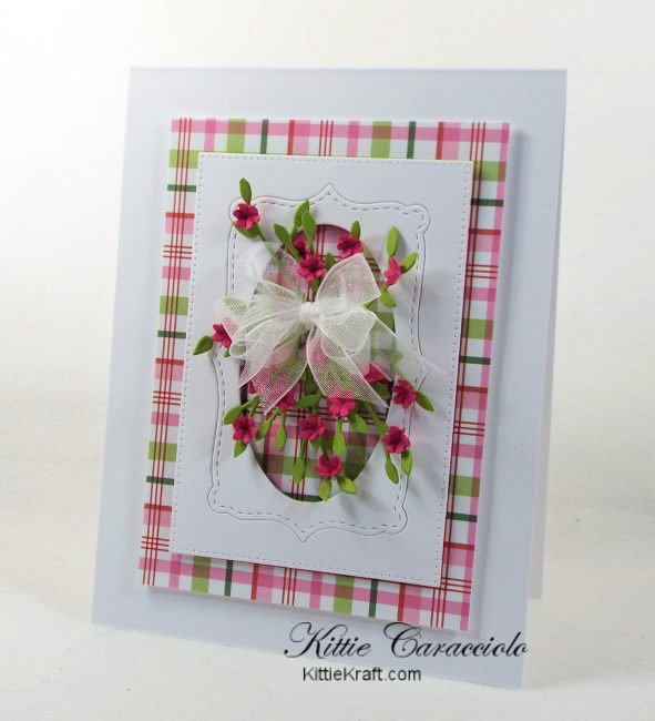 Framed tiny paper flowers kittie kraft come check out how i made this framed tiny paper flowers card with the colorful plaid mightylinksfo