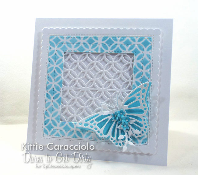 Come see how I made this clean and simple die cut lattice and butterfly card.