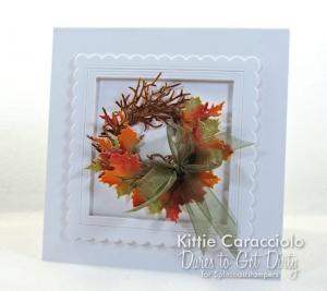 Die Cut Fall Leaf Wreath Card DTGD Day 3
