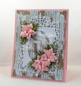 Shabby Chic Framed Poinsettia