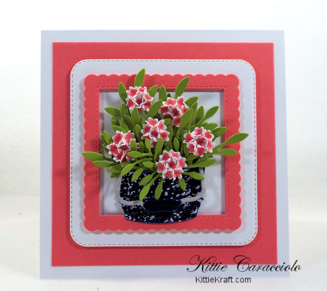 Come see how I made this old fashioned vintage die cut flower bucket.