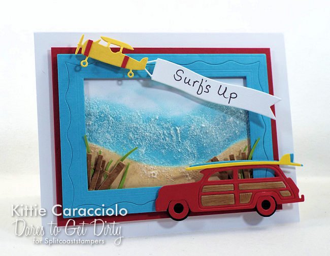 I woudl like to invite you to come see how I made this bright die cut woody and surf boards card.