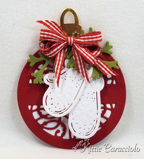 Come check out my round Mittens tag made using the newly releaesed Spellbinders holiday set.
