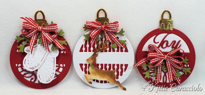 Come check out my set of round tag made using the newly releaesed Spellbinders holiday set.
