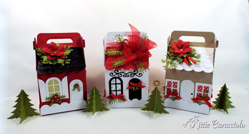 Come see how I made this Charming Cottage Box village.