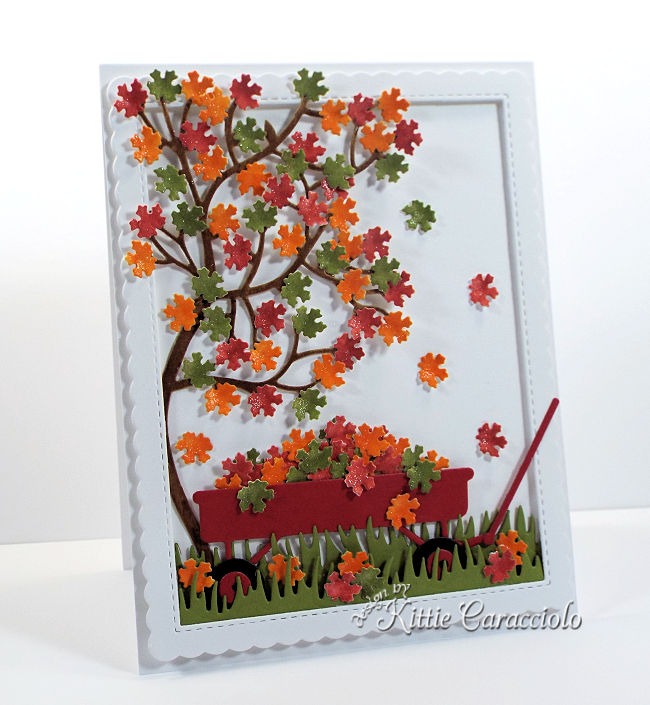 Come see how I made this fall tree and wagon scene using new Rubbernecker dies.