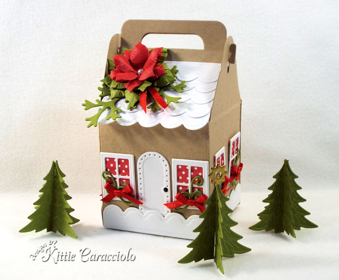 Come see how I made this festive Christmas charming cottage gift box.