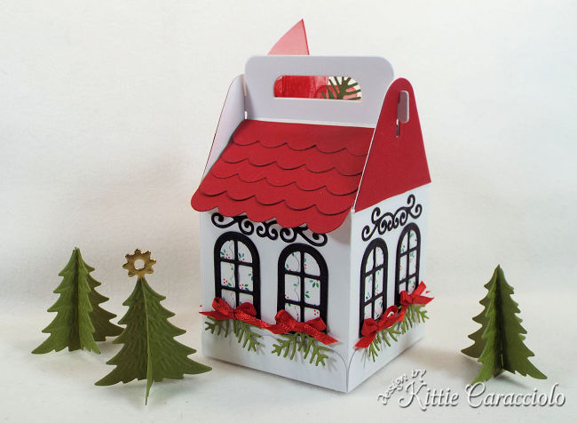 Come see how I made this house for my Charming Cottage Box village.