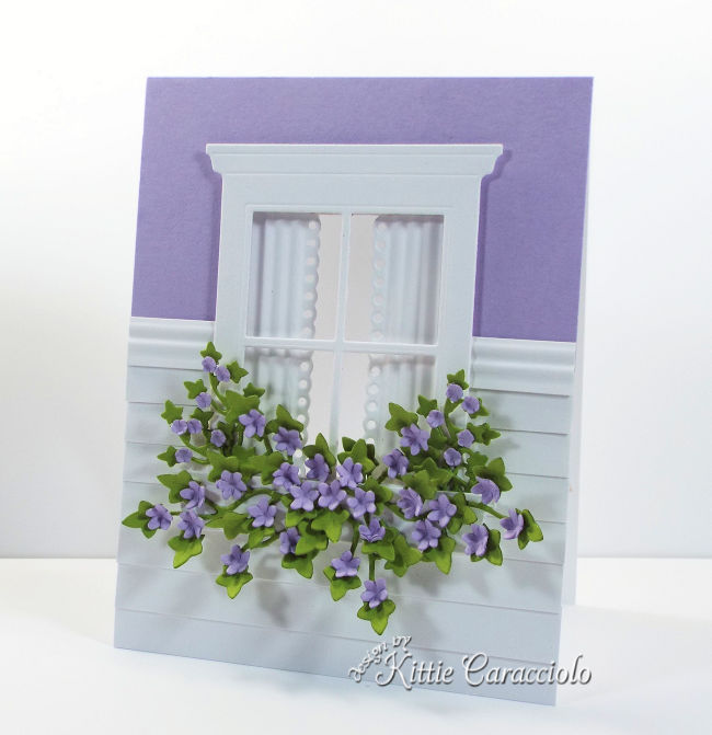 Come see how I made this pretty see through window card with flowers using new Rubbernecker dies.