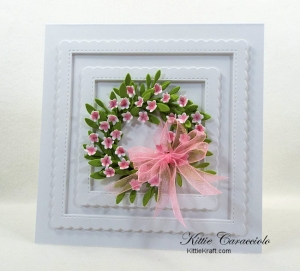 Summer Wreath with Die Cut Flowers and Foliage