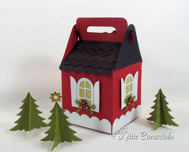 Come see how I made this red and black house for my Charming Cottage Box village.