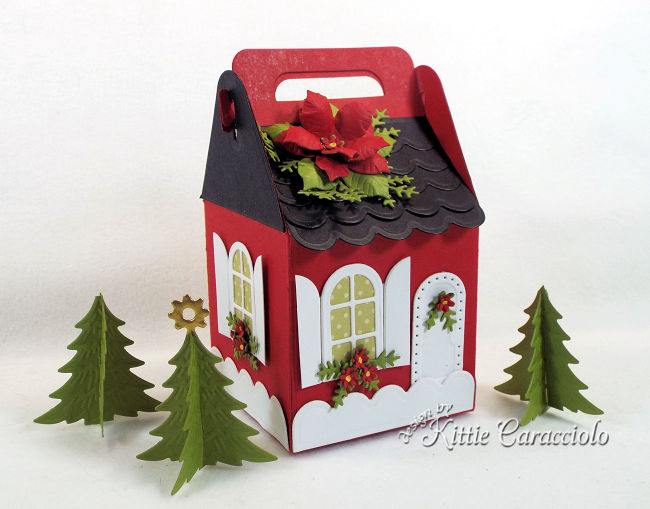 Come see how I made this red house for my Charming Cottage Box village.