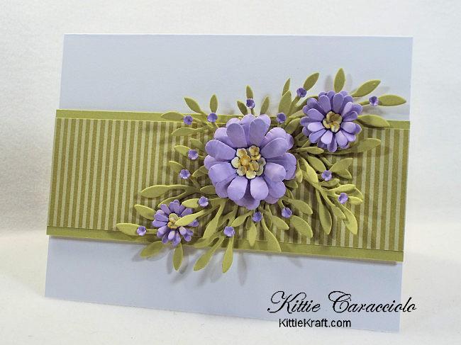 Die Cut Floral Spray Card