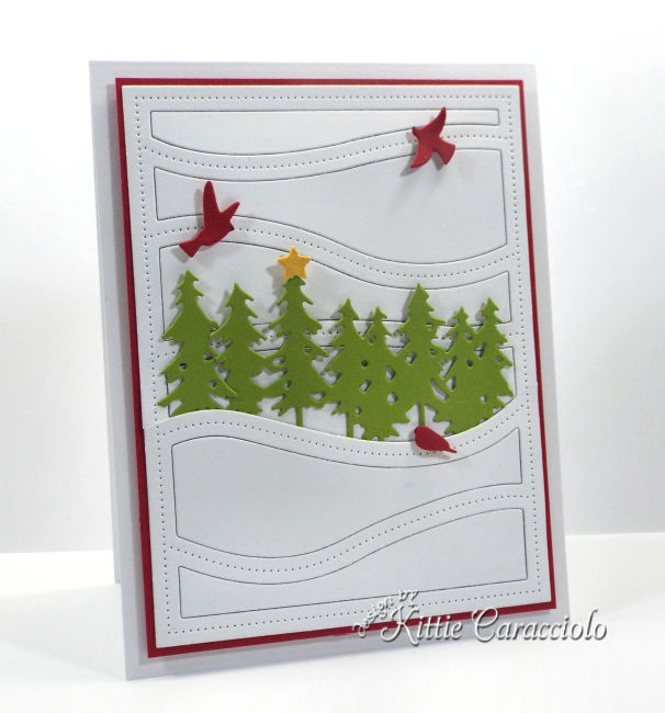 Come and see how I made this clean and simple die cut Christmas scene card.