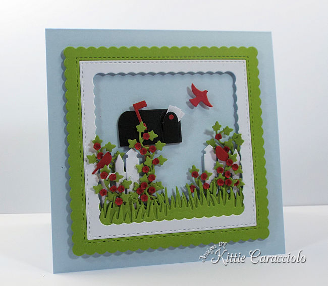 Come see how I made the fun Rubbernecker mailbox and pine tree forest cards.