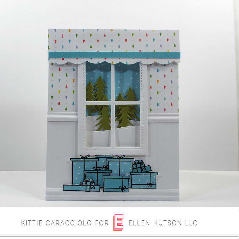 Come see how I made this Christmas card using the Winter Window set from the Essentials by Ellen October release.