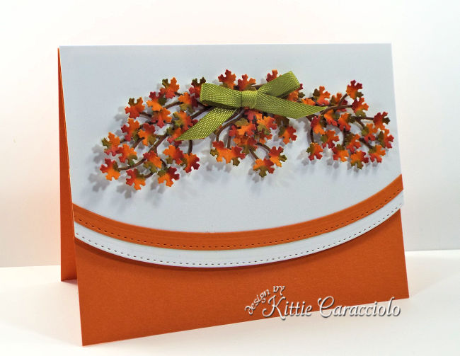 Come see how I made this colorful tiny die cut fall leaves card.