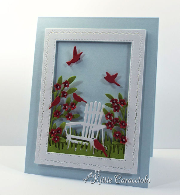 Come see how I made this die cut adirondack chair scene card.