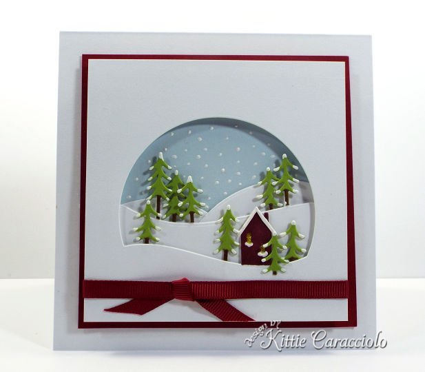 Come see how I made this die cut alpine window scene.