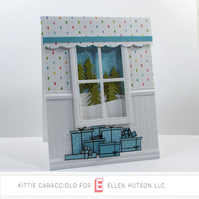 Come see how I made this fun holiday card using the Winter Window set from the Essentials by Ellen October release.