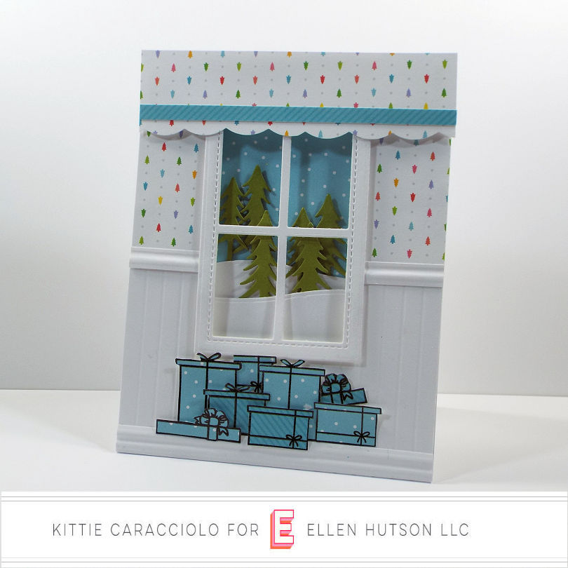 Come see how I made this holiday card using the Winter Window set from the Essentials by Ellen October release.