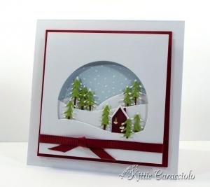 Die Cut Alpine Window Scene