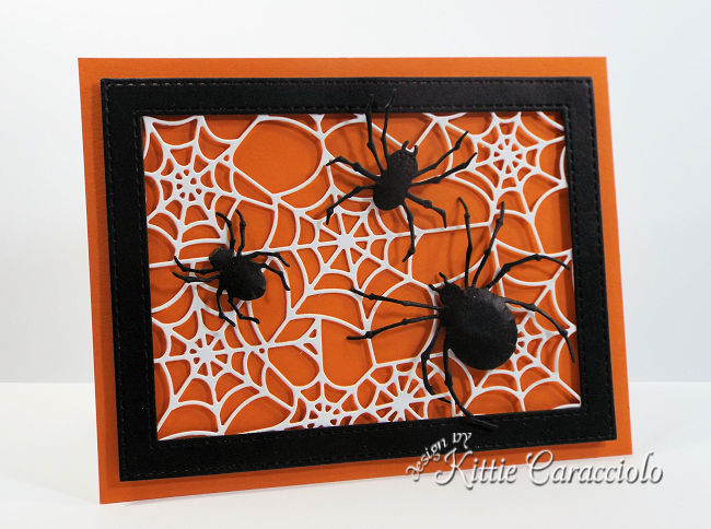Come see how I made this sppoky spider Impression Obsession happy haunting Halloween card.