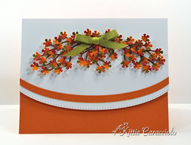 Come see how I made this tiny die cut fall leaves card.