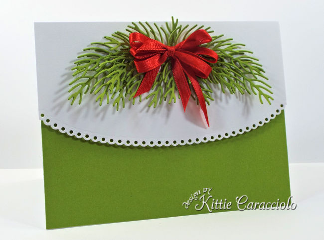 Come see how I make elegant clean and simple pine Christmas cards.