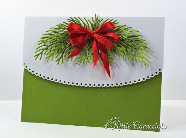 Come see how I make lovely clean and simple pine Christmas cards.