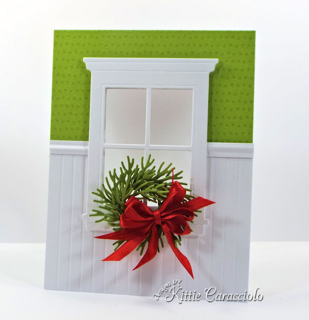 Come see how I make pretty clean and simple pine Christmas cards.