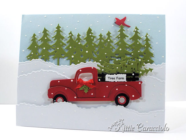 Die Cut Truck and Christmas Trees