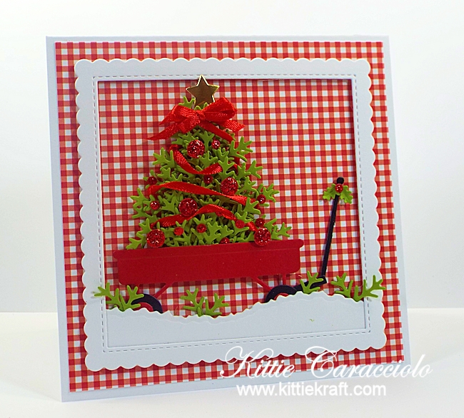 Come see how I made this fun red wagon and christmas tree card.