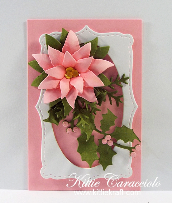 Come see how I made this lovely die cut poinsettia tag.
