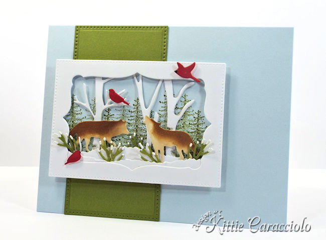 Come see how I made this masculine Christmas card using the Rubbernecker Wildlife set.