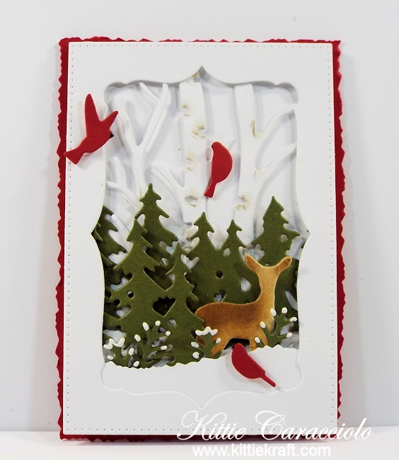 Come see how I made this masculine die cut wildlife tag.