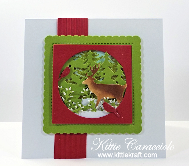 Come see how I made this masculine winter deer scene card.
