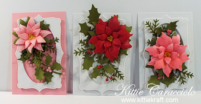Come see how I made this pretty die cut poinsettia tags set.