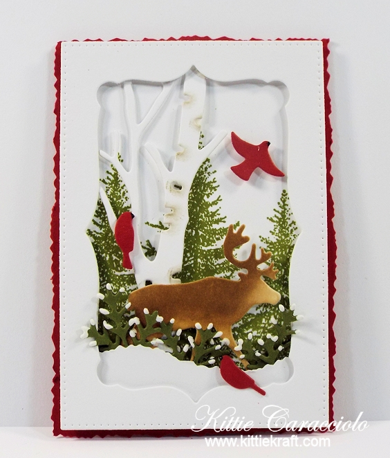 Come see how I made this snowy masculine die cut wildlife tag.