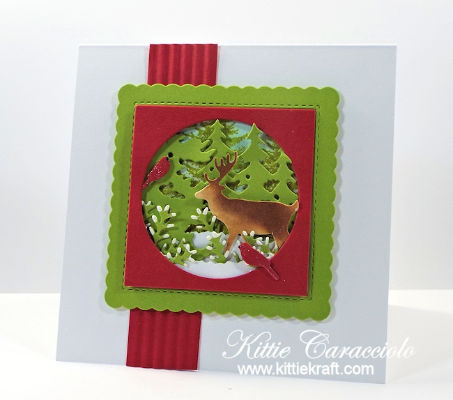 Come see how I made this winter deer scene card.