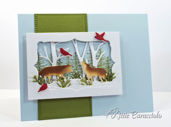 Come see how I made this winter masculine Christmas card using the Rubbernecker Wildlife set.