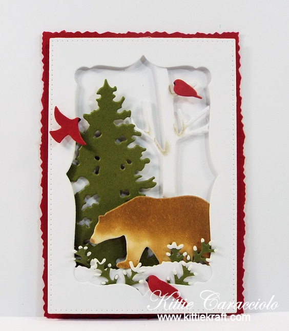 Come see how I made this winter masculine die cut wildlife tag.