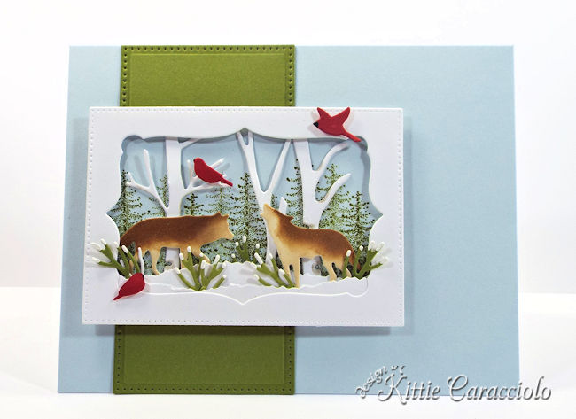 Come see how I made this snowy masculine Christmas card using the Rubbernecker Wildlife set.