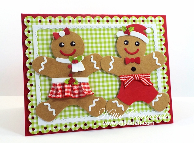 Come and see how I made the cute Mr. and Mrs. Gingerbread.